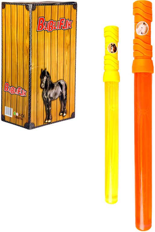 Bublifuk meč koně velké bubliny dětský bublifukovač 2 barvy