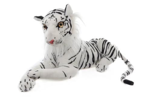 Plyš Tygr bílý 50 cm