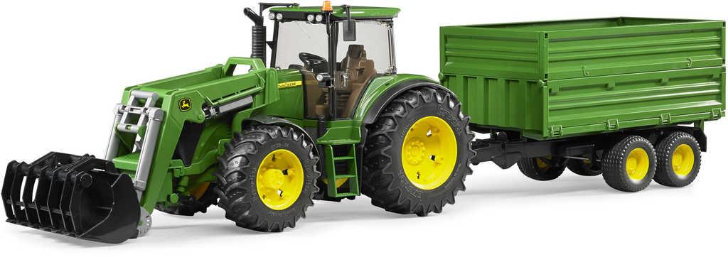 BRUDER 03055 (3055) Traktor JOHN DEERE s vlekem
