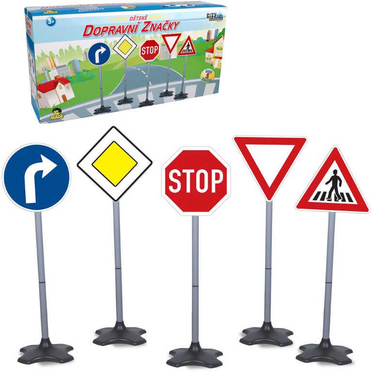 Značky dopravní City Collection 40-80cm set 5ks nastavitelná výška plast