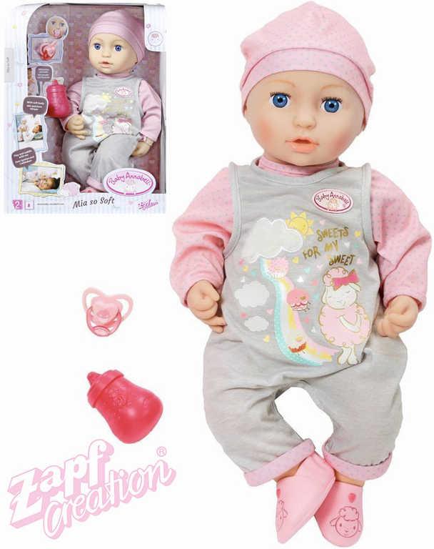 ZAPF BABY ANNABELL Panenka Mia sestřička set s lahvičkou a dudlíkem