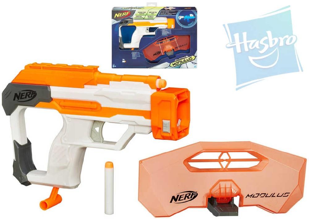 HASBRO NERF N-Strike Pistole Modulus obranná výbava set se 2 šipkami a štítem