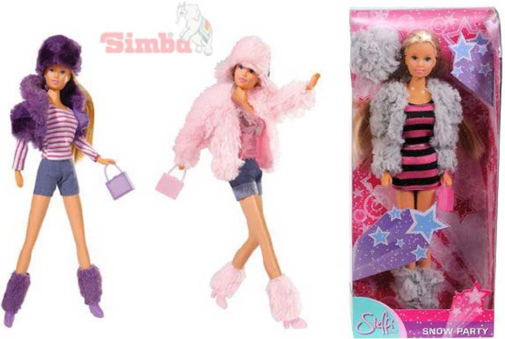 SIMBA Panenka Steffi Snow trendy zimní obleček s kabelkou 3 druhy