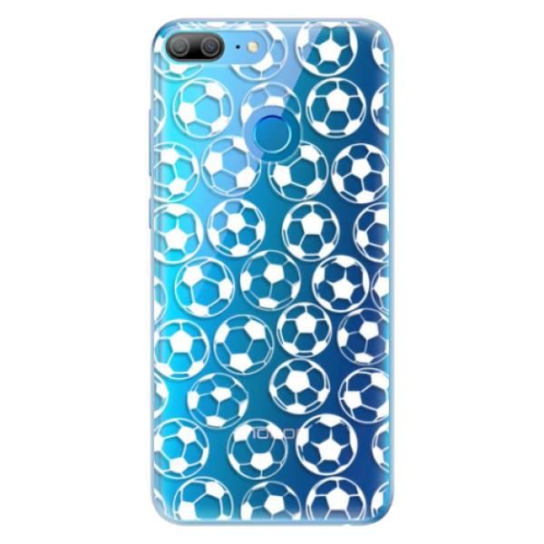 Odolné silikonové pouzdro iSaprio - Football pattern - white - Huawei Honor 9 Lite