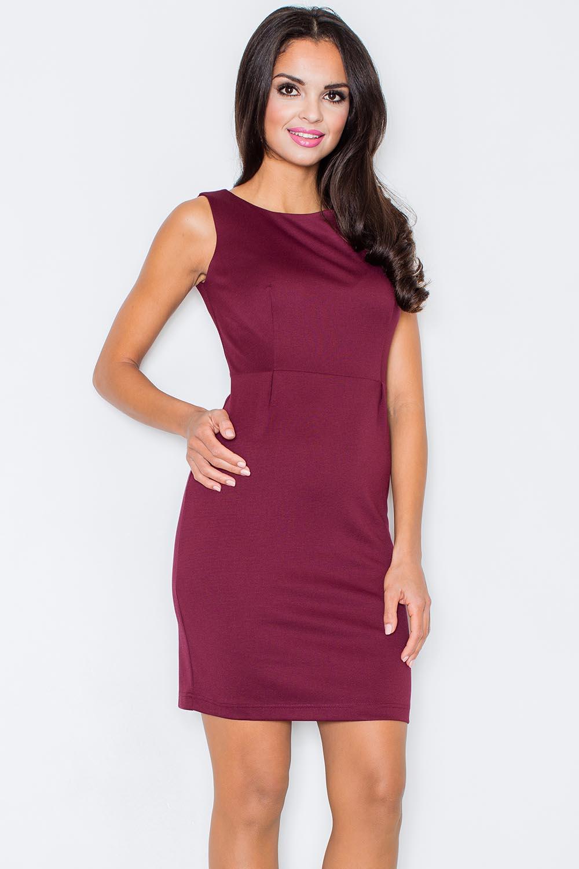 Dámské šaty - Figl - Tmavě fialová/M-38