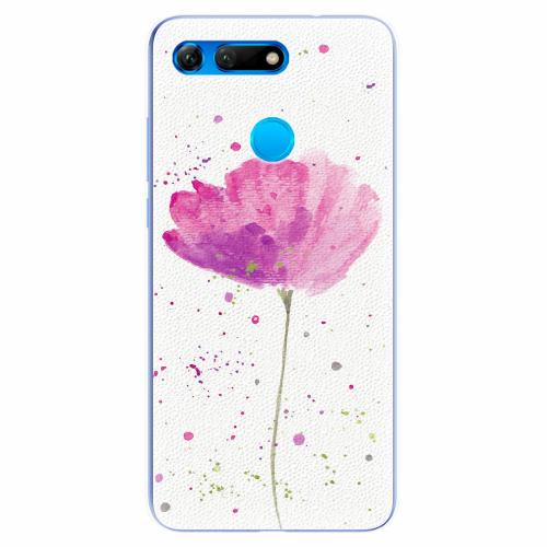 Silikonové pouzdro iSaprio - Poppies - Huawei Honor View 20