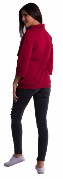 Be MaaMaa Těhotenské a kojící teplákové triko - černé