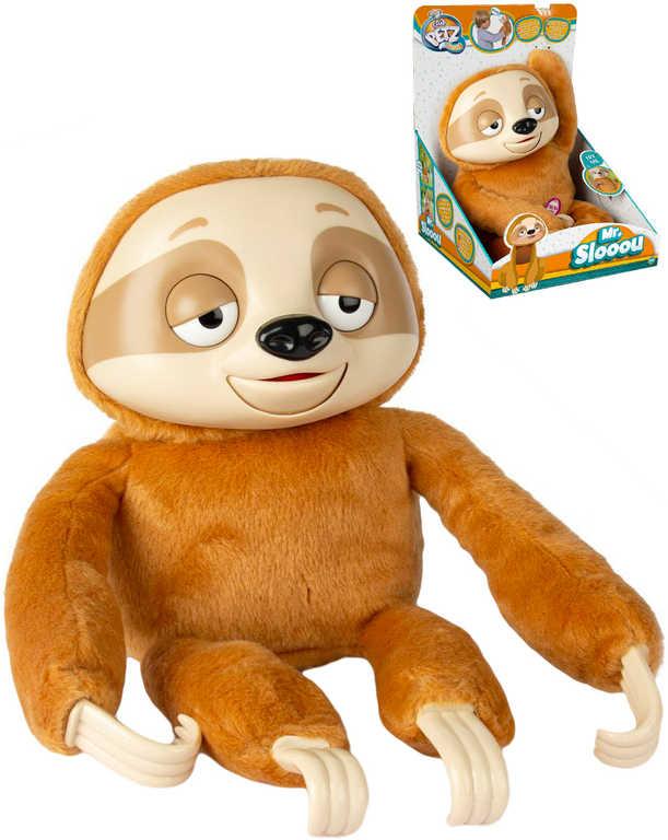 PLYŠ Baby lenochod Mr. Slooou opakuje slova na baterie Zvuk *PLYŠOVÉ HRAČKY*