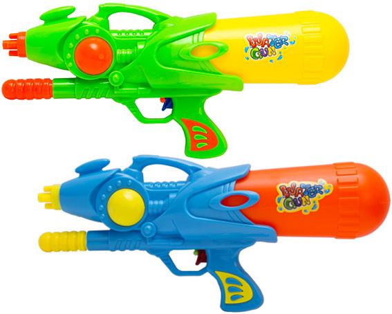 Pistole vodní stříkací pumpa 35cm se zásobníkem na vodu různé barvy