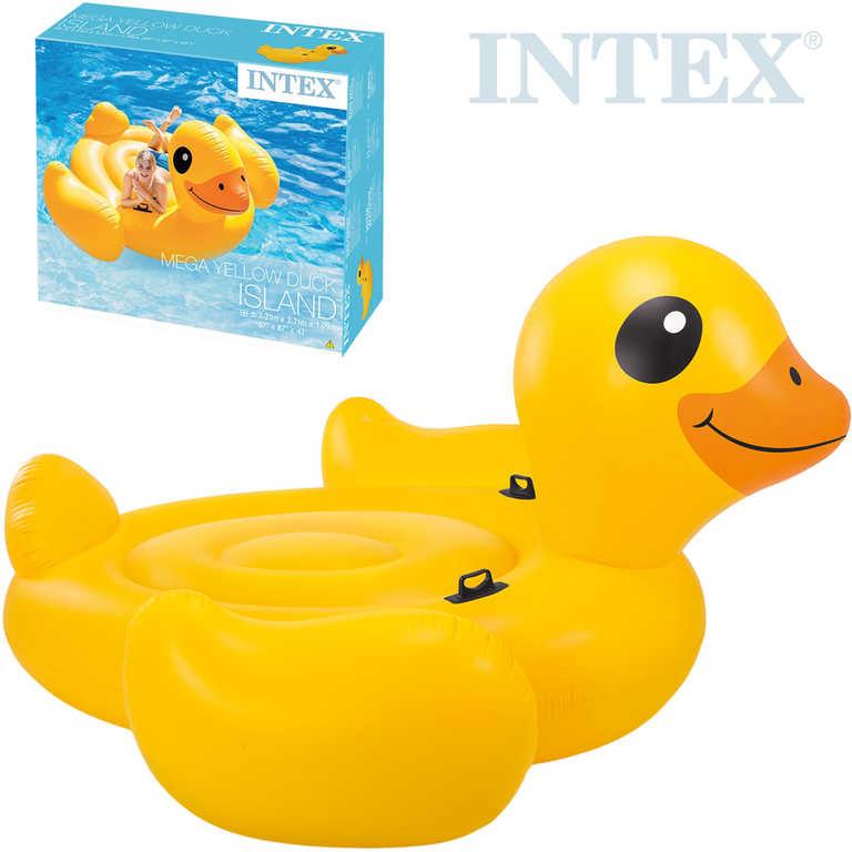 INTEX Kačena velká nafukovací s úchyty 221x221x109cm obří matrace do vody 56286