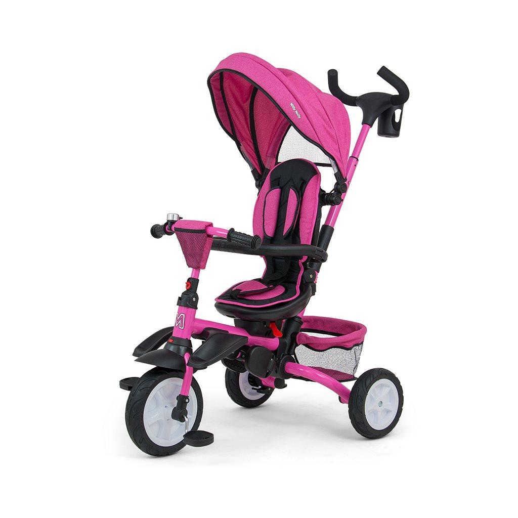 Dětská tříkolka 6v1 Milly Mally Stanley - pink - růžová