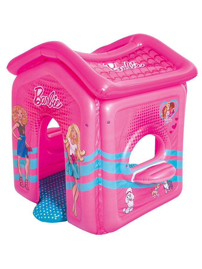 Dětský nafukovací domeček Bestway Barbie - růžová