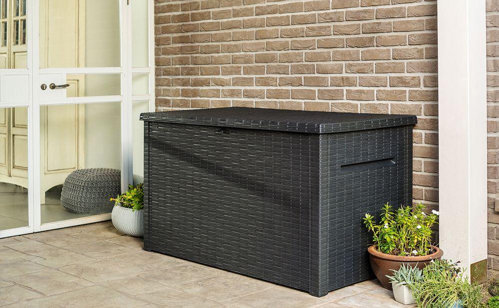 Zahradní úložný box JAVA - 870 L, antracit