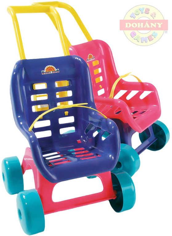 MAD Kočárek sportovní BUGGY pro panenku 2 barvy plast