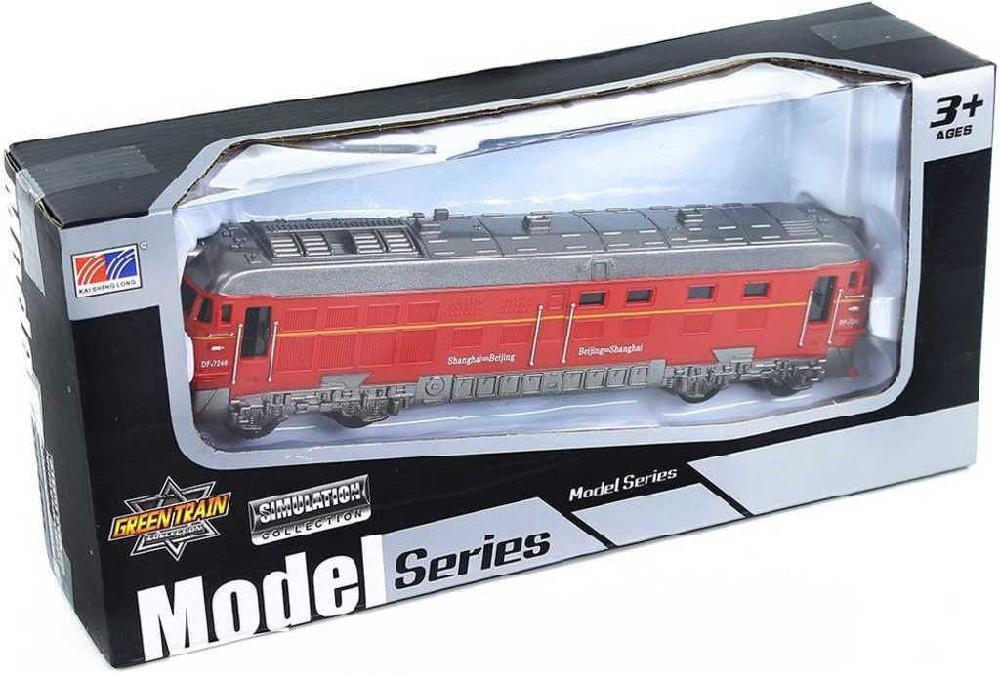 Lokomotiva plastová na baterie model na setrvačník 3 barvy Světlo Zvuk