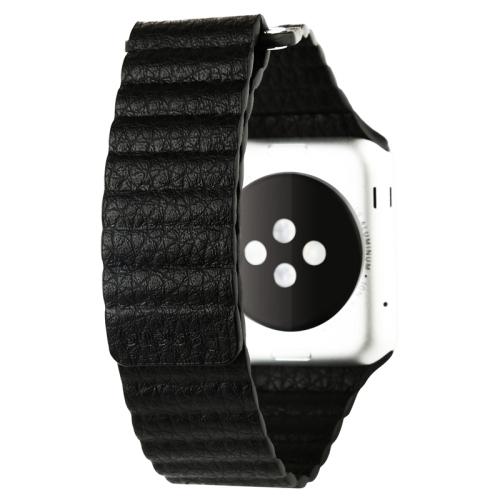 Pásek / řemínek iSaprio Magnetic Leather pro Apple Watch 42mm černý