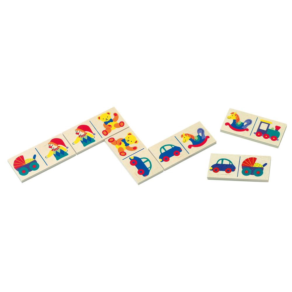 Domino - hračky-v papír.kart.