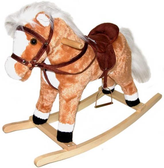 PLYŠ Kůň (koník) houpací KONÍK se zvukem 74 x 58 cm *PLYŠOVÉ HRAČKY*