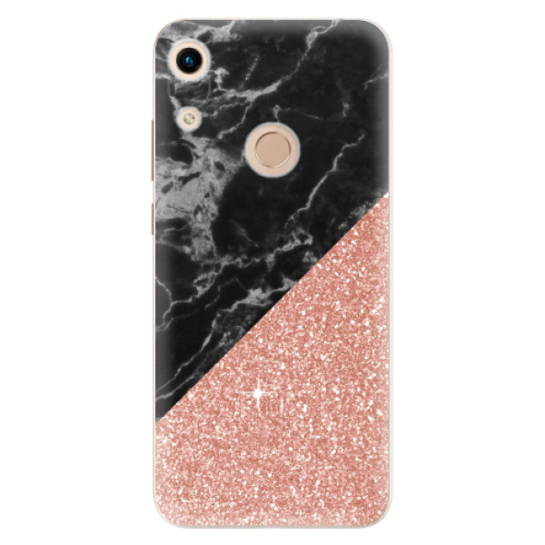 Odolné silikonové pouzdro iSaprio - Rose and Black Marble - Huawei Honor 8A