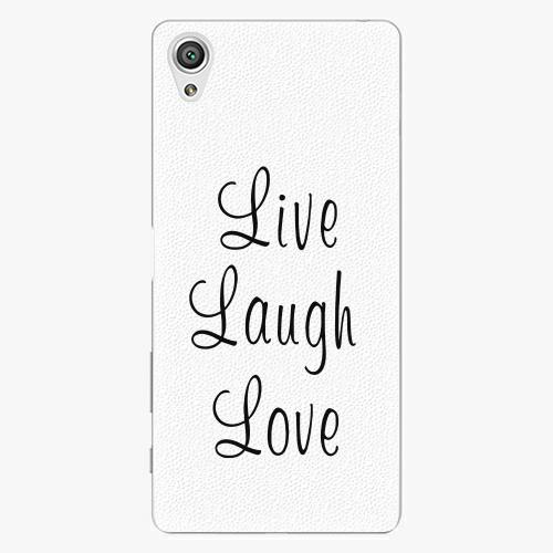 Plastový kryt iSaprio - Live Laugh Love - Sony Xperia X