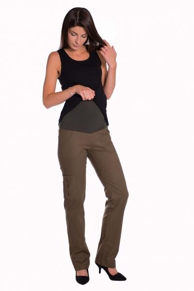 Be MaaMaa Bavlněné, těhotenské kalhoty s kapsami