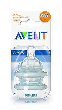 Silikonová savička Classic Avent - 2 otvory