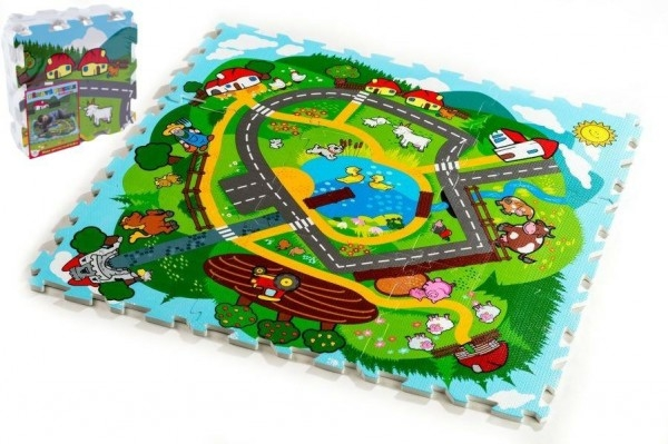Pěnové puzzle Město Moje první zvířátka 30x30cm (9ks)