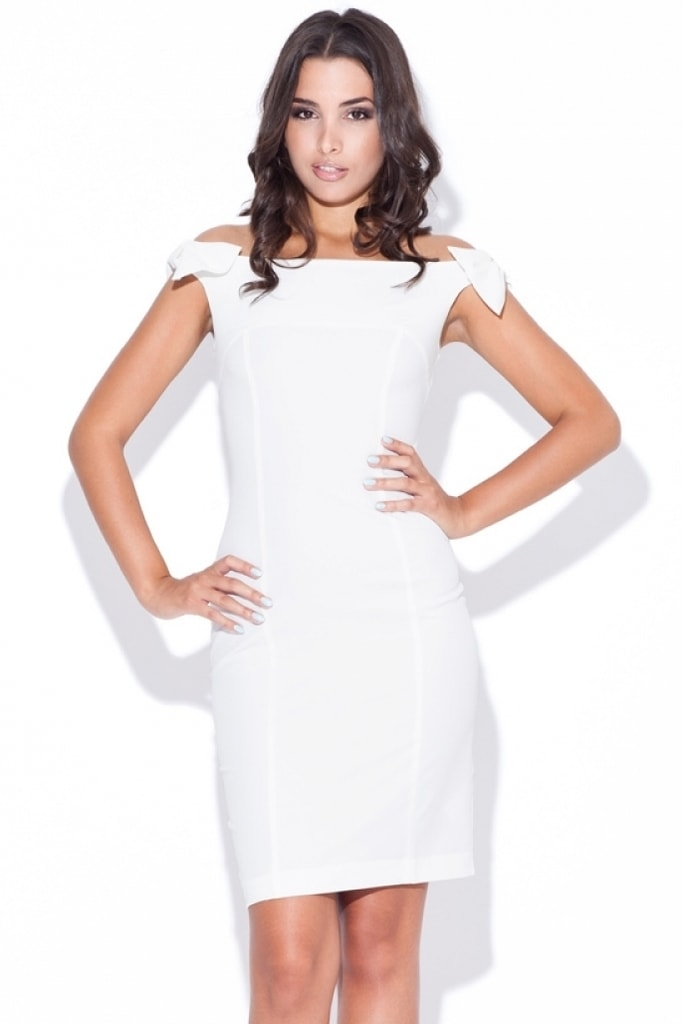 Dámské šaty KATRUS K028 krémové - L