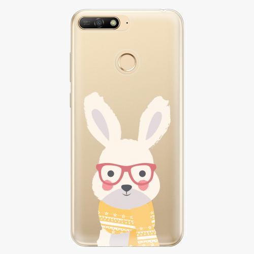 Silikonové pouzdro iSaprio - Smart Rabbit - Huawei Y6 Prime 2018