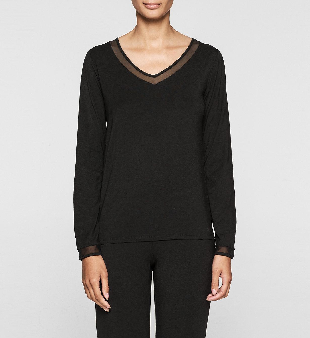 Dámské tričko QS5306E - Calvin Klein - Fialová/L