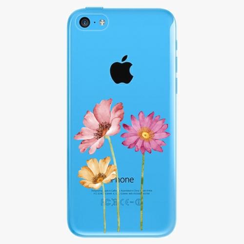 Plastový kryt iSaprio - Three Flowers - iPhone 5C