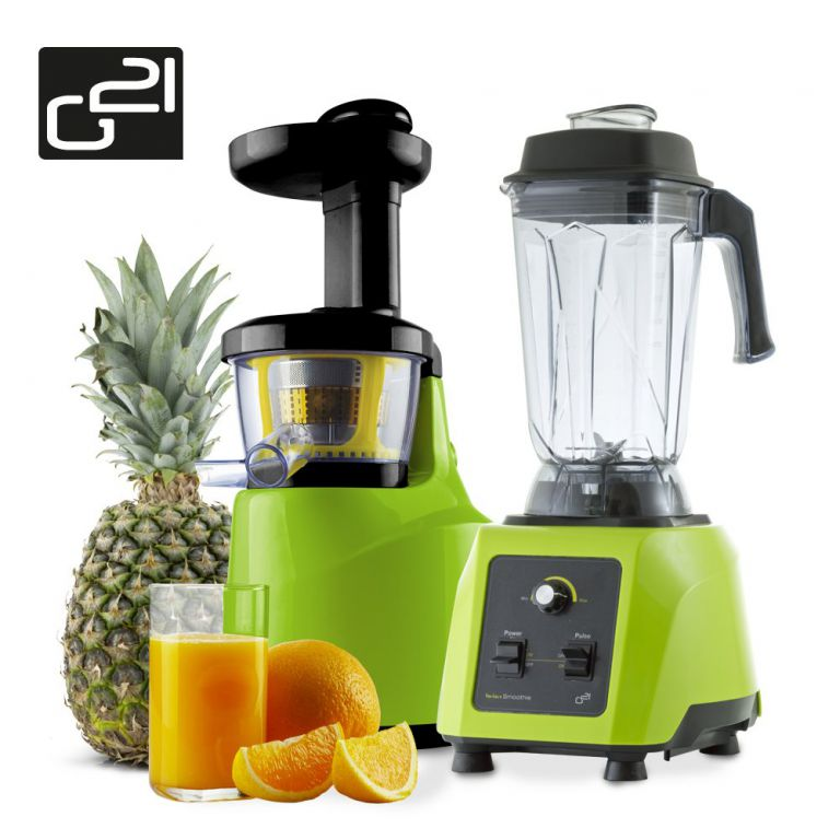 Set G21 Perfect smoothie + perfect juicer green