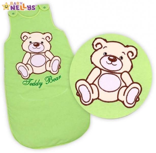 Spací vak Teddy Bear, Baby Nellys - sv. zelený vel. 2