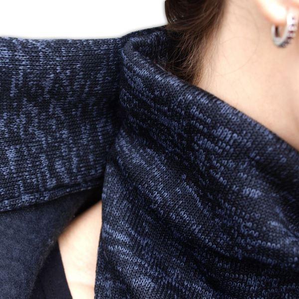 Nosící fleecová mikina - pro nošení dítěte v předu i vzadu na těle - černý