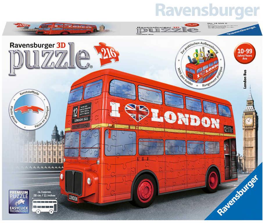 RAVENSBURGER Puzzle 3D Londýnský autobus 216 dílků Easyclick plast
