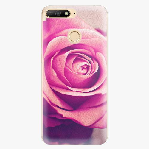 Silikonové pouzdro iSaprio - Pink Rose - Huawei Y6 Prime 2018