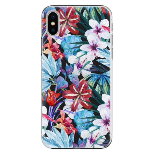 Plastové pouzdro iSaprio - Tropical Flowers 05 - iPhone X