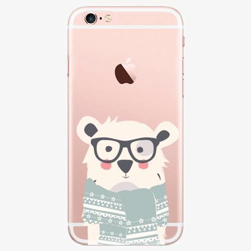 Silikonové pouzdro iSaprio - Bear With Scarf - iPhone 7