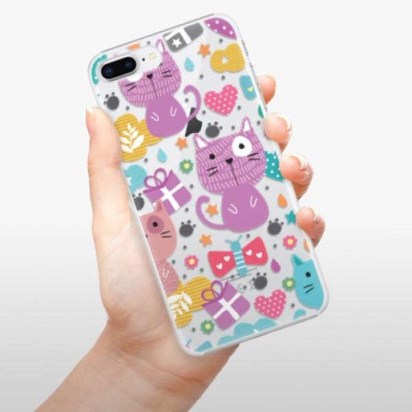 Plastové pouzdro iSaprio - Cat pattern 01 - iPhone 8 Plus