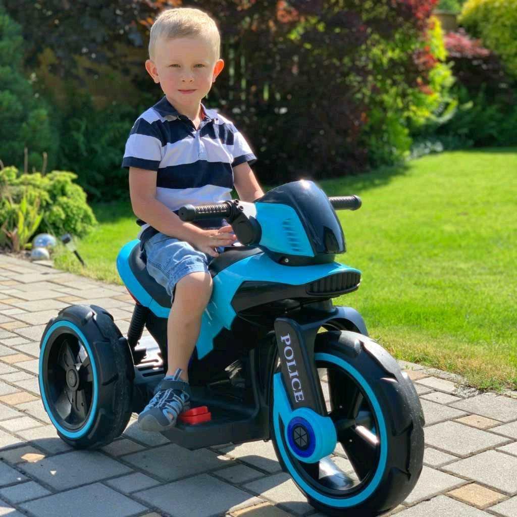 Dětská elektrická motorka Baby Mix POLICE