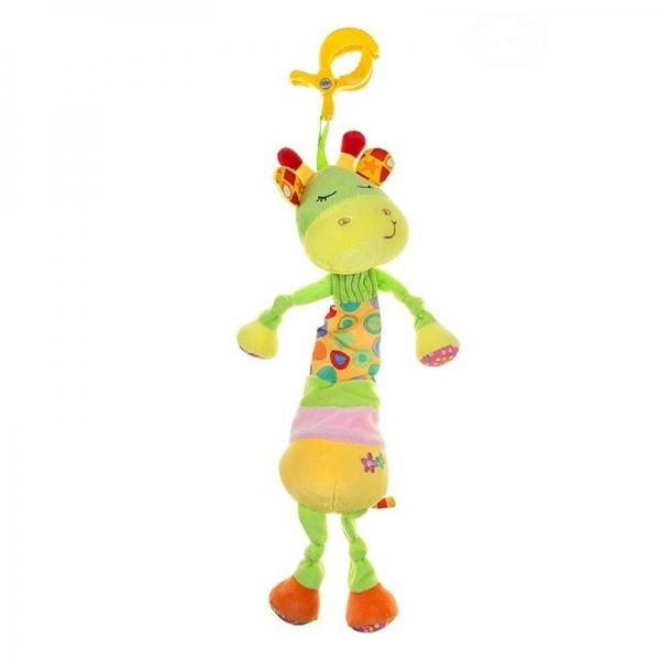 Akuku Plyšová hračka s melodii a klipem - Žirafka