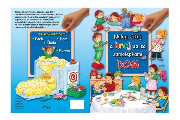 Kniha Nalep, hraj sa/Dom so samolepkami SK verzia 28 x 21 cm