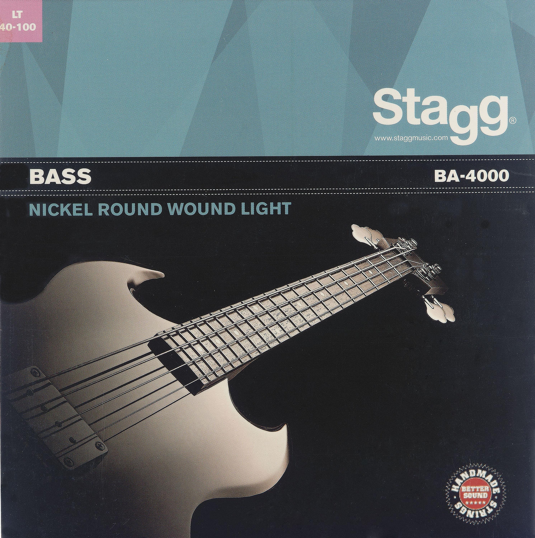 Stagg BA-4000, sada strun pro elektrickou baskytaru, light