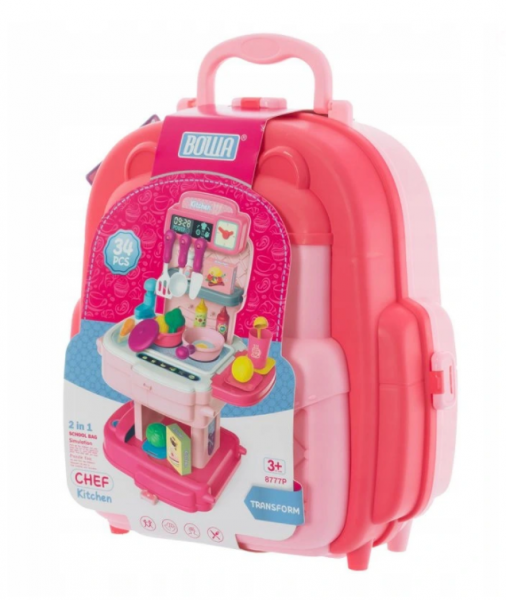Euro Baby Dětský kufříkový batoh - Kuchyňka, 2v1