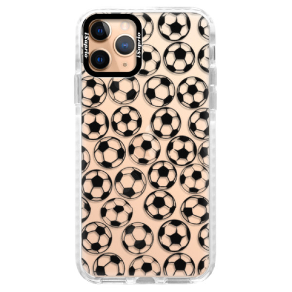Silikonové pouzdro Bumper iSaprio - Football pattern - black - iPhone 11 Pro