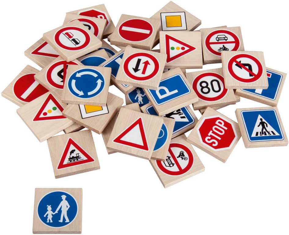 DETOA DŘEVO Pexeso dopravní značky 36 dílků *DŘEVĚNÉ HRAČKY*