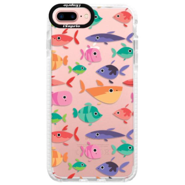 Silikonové pouzdro Bumper iSaprio - Fish pattern 01 - iPhone 7 Plus