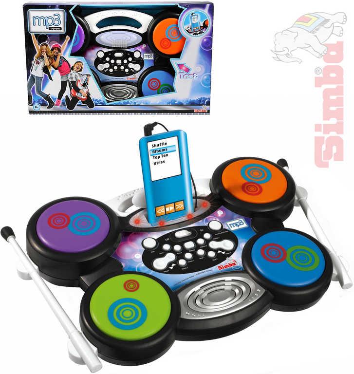 SIMBA Bubny dětské elektronické kompatibilní s MP3 na baterie plast