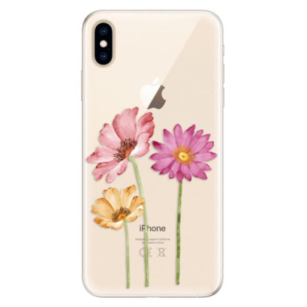 Silikonové pouzdro iSaprio - Three Flowers - iPhone XS Max