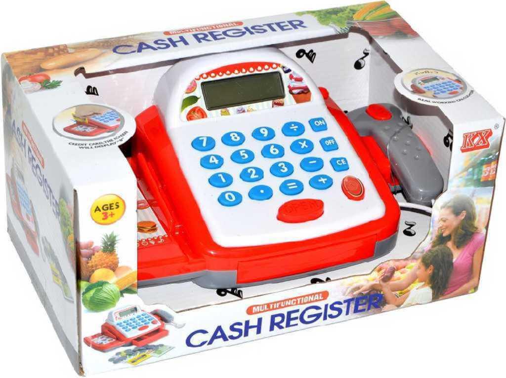 Pokladna dětská registrační na baterie v krabici